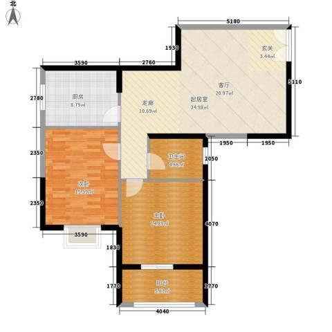 曲江澜山2室0厅1卫1厨94.00㎡户型图