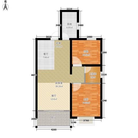 同祥城2室0厅1卫1厨113.00㎡户型图