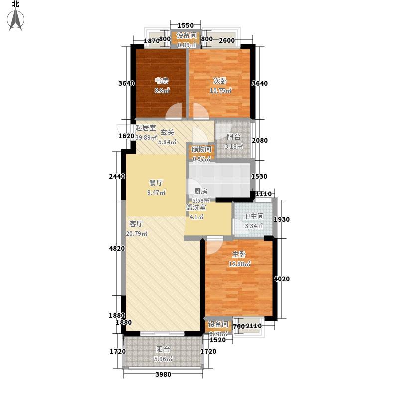 长虹世纪荣廷105.00㎡16#楼G2(05)户型