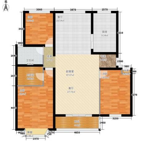 荣城公寓3室0厅2卫1厨158.00㎡户型图