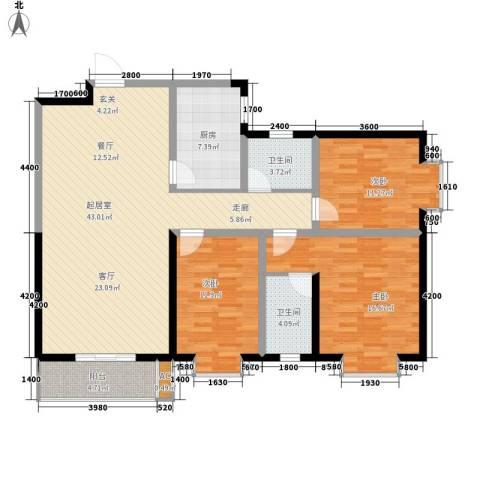 嘉祥世家3室0厅2卫1厨140.00㎡户型图