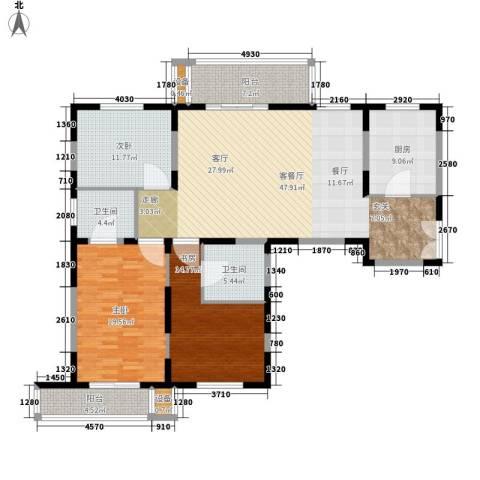 新兴IN之家3室1厅2卫1厨142.00㎡户型图