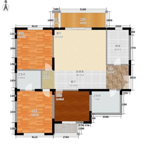 新兴IN之家3室0厅2卫1厨142.00㎡户型图