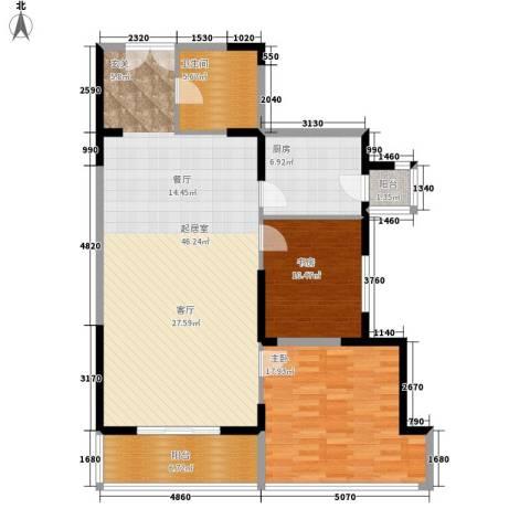 新兴IN之家2室0厅1卫1厨107.00㎡户型图