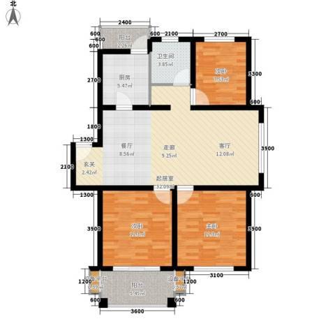四季阳光3室0厅1卫1厨102.00㎡户型图