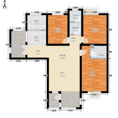 红缨花园3室0厅2卫1厨142.00㎡户型图