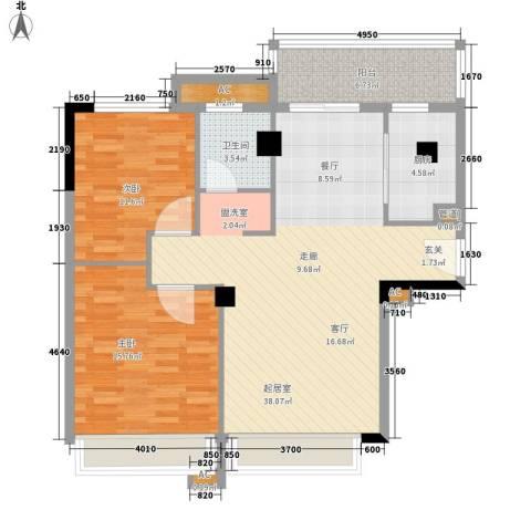 森林公园壹号2室0厅1卫1厨94.00㎡户型图