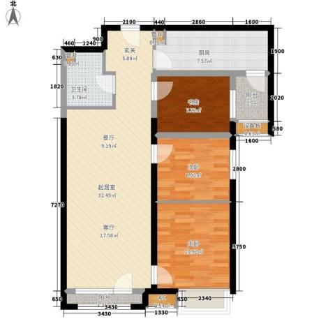 华陆小区3室0厅1卫1厨109.00㎡户型图