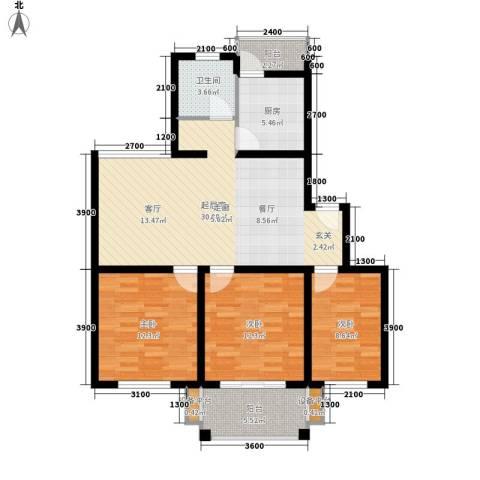 四季阳光3室0厅1卫1厨99.00㎡户型图