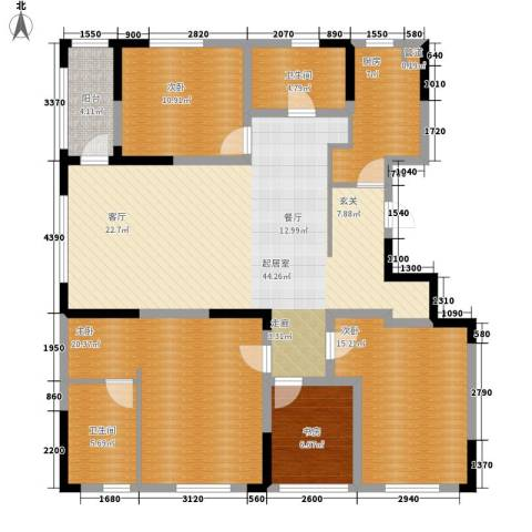 精典四季花园4室0厅2卫1厨162.00㎡户型图