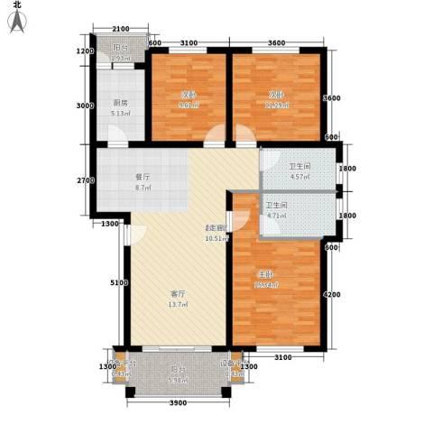四季阳光3室0厅2卫1厨111.00㎡户型图