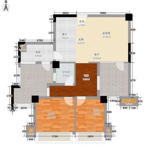 森林公园壹号2室0厅1卫1厨100.00㎡户型图