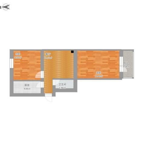 志强南园2室1厅1卫1厨68.00㎡户型图