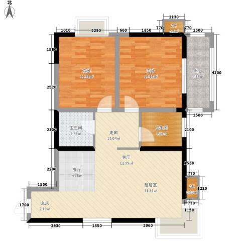 阳光嘉庭2室0厅2卫0厨96.00㎡户型图