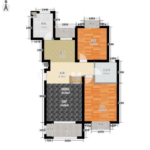 金光大道二期2室0厅1卫1厨88.00㎡户型图