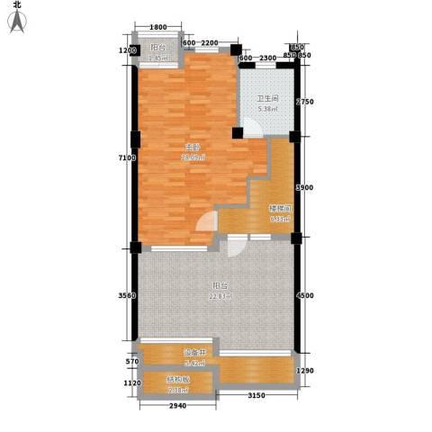 山水英伦庄园1室0厅1卫0厨207.00㎡户型图
