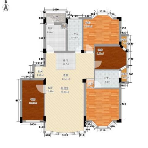 四季华庭4室0厅2卫1厨123.00㎡户型图