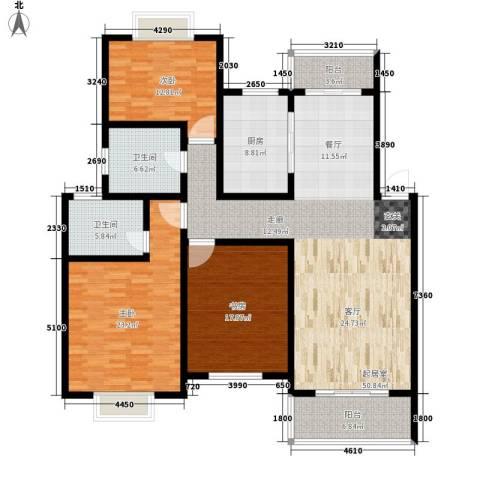 紫藤花苑3室0厅2卫1厨155.00㎡户型图