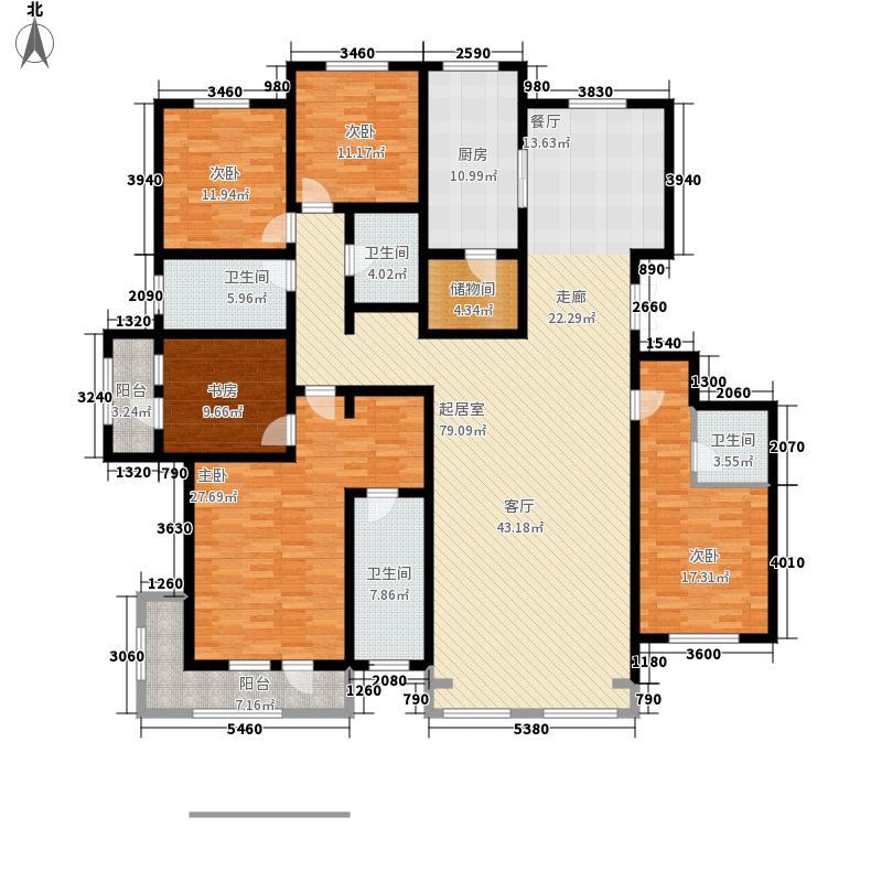 萨尔斯堡273.95㎡15#楼西单元A5室户型