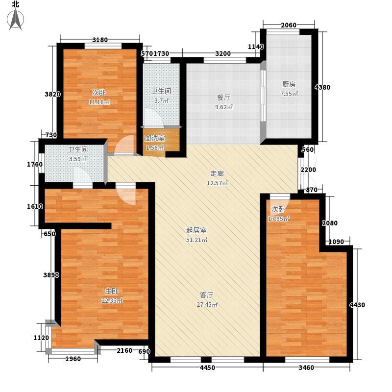 萨尔斯堡170.07㎡35#楼西单元A3室户型