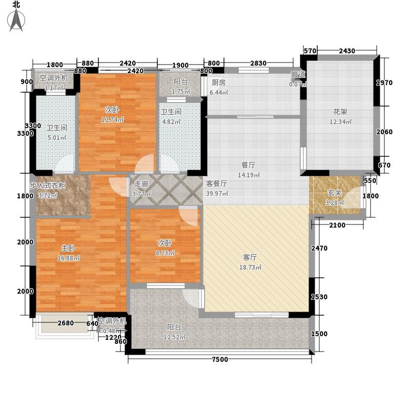 盛地沃尔玛广场139.80㎡1号楼A1户型