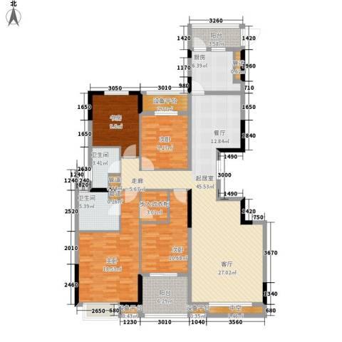 长大彩虹都4室0厅2卫1厨185.00㎡户型图