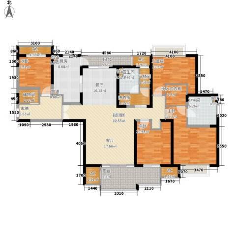和风雅致4室0厅2卫1厨171.00㎡户型图