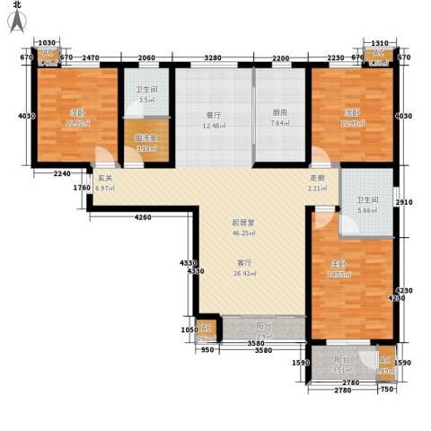 御景阁3室0厅2卫1厨164.00㎡户型图