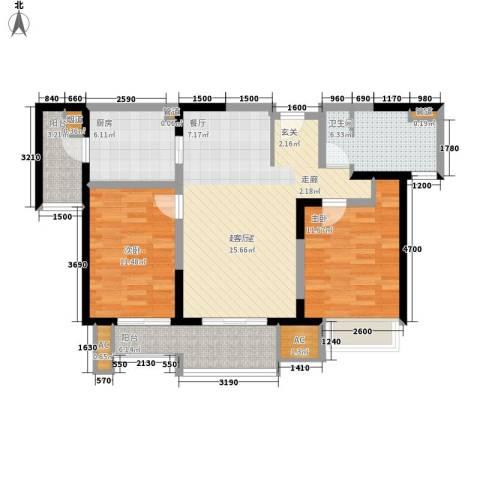 和风雅致2室0厅1卫1厨101.00㎡户型图