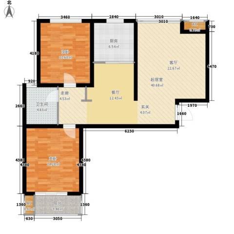 御景阁2室0厅1卫1厨119.00㎡户型图