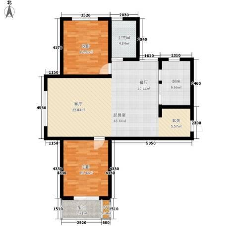 御景阁2室0厅1卫1厨121.00㎡户型图