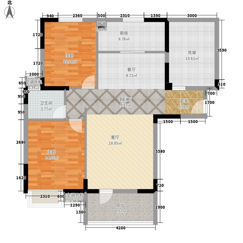 盛地沃尔玛广场108.11㎡1号楼C1户型