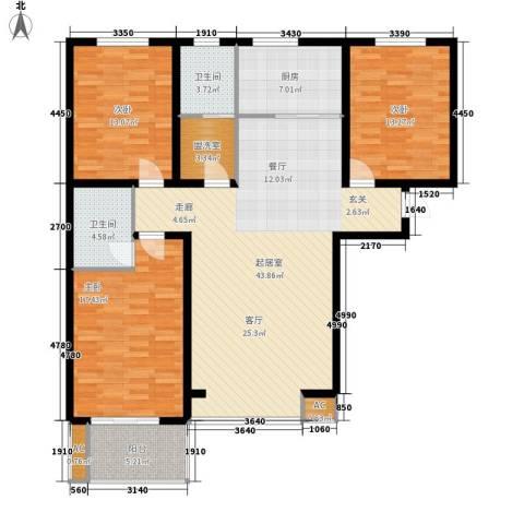 御景阁3室0厅2卫1厨159.00㎡户型图