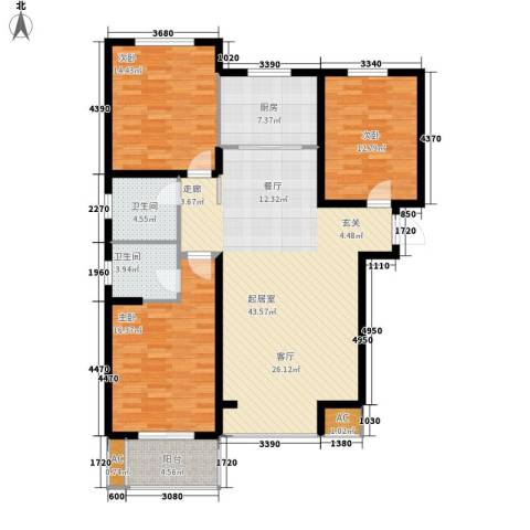 御景阁3室0厅2卫1厨153.00㎡户型图