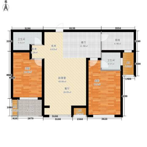 御景阁2室0厅2卫1厨138.00㎡户型图