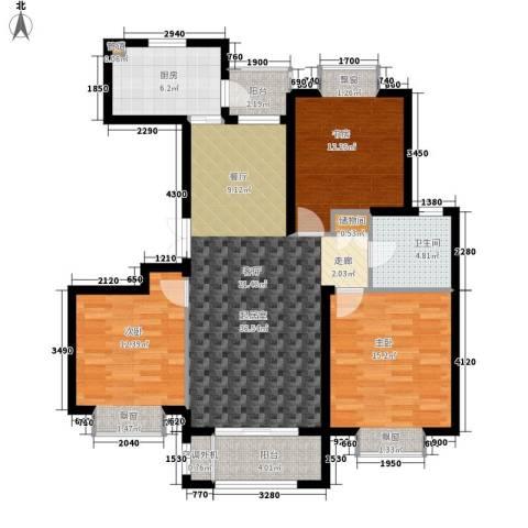 金光大道二期3室0厅1卫1厨103.00㎡户型图
