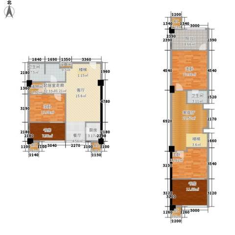 橙仕空间5室0厅2卫1厨144.79㎡户型图