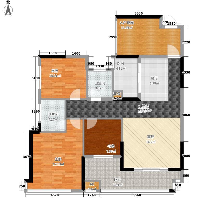 筑梦佳园122.60㎡2、6栋舒适面积12260m户型