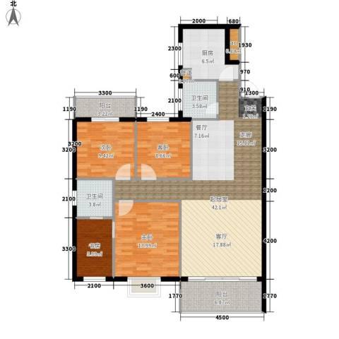 翡翠林居4室0厅2卫1厨140.00㎡户型图