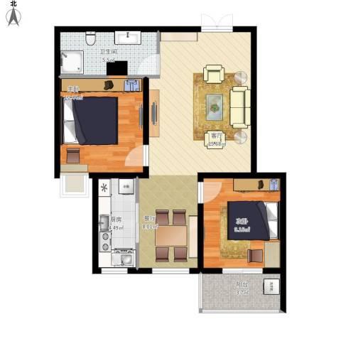 盛城东星1室1厅1卫1厨82.00㎡户型图