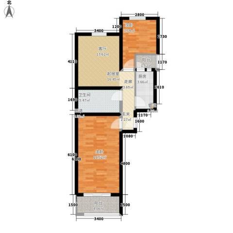 航天城小区2室0厅1卫1厨84.00㎡户型图