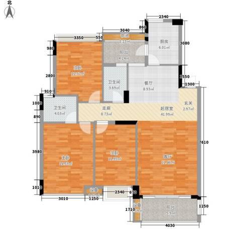 中海康城3室0厅2卫1厨121.00㎡户型图