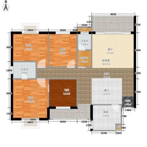 翡翠林居4室0厅2卫1厨157.00㎡户型图