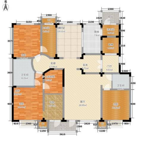 绿地新里中央公馆3室0厅3卫1厨180.00㎡户型图