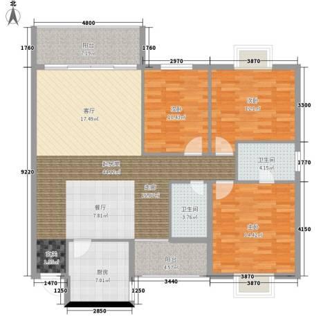 翡翠林居3室0厅2卫1厨246.00㎡户型图