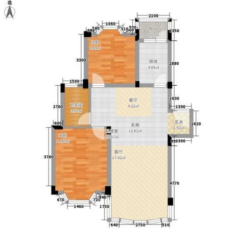 四季华庭2室0厅1卫1厨89.00㎡户型图