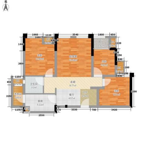 仁安龙城国际三期3室0厅1卫1厨69.00㎡户型图