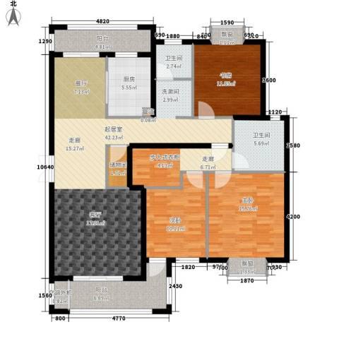 金光大道二期3室0厅2卫1厨131.00㎡户型图