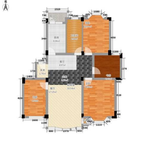 四季华庭4室0厅1卫1厨111.00㎡户型图