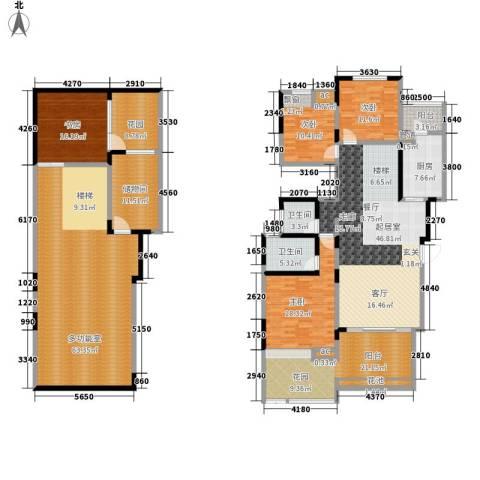 美的林城时代4室0厅2卫1厨230.23㎡户型图